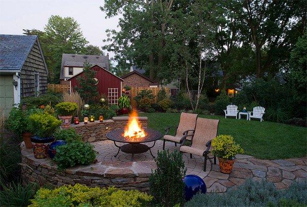 wood burning pit