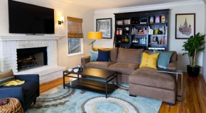 20 Amazing Blue Black White Yellow Living Rooms