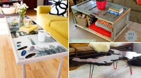 20 Amazing Ways to DIY a Coffee Table