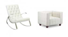 20 Neat and Sophisticated White Living Room Chairs