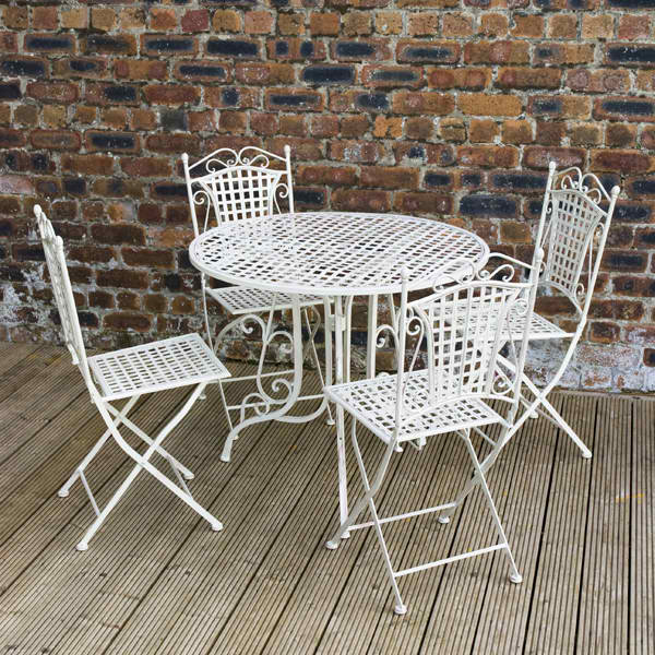 20 fun and functional metal outdoor furniture home design lover Metal garden furniture sets