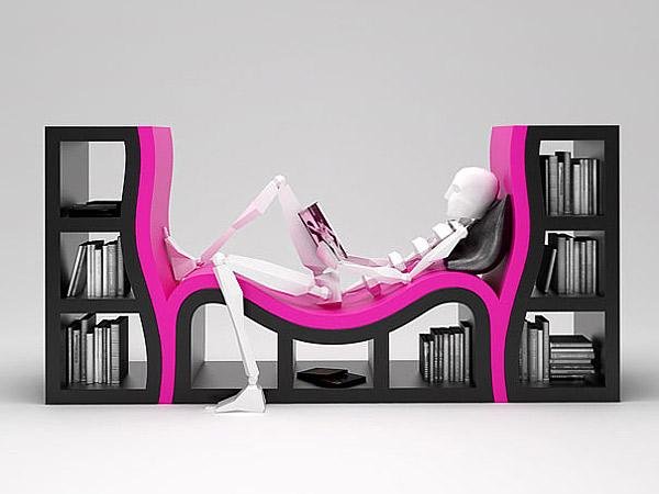 bizarre design of bookshelf - Weird Bookshelves