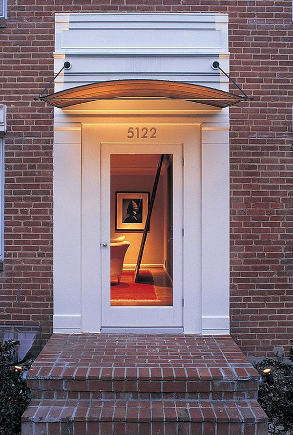Add decors to your exterior with 20 awning ideas home for Simple entrance door designs