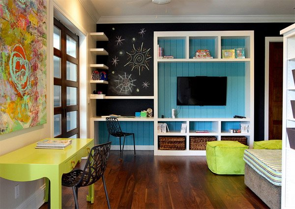 20 functional and cool designs of study rooms home Study room wall cabinets