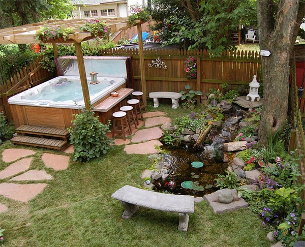 Backyard Patio Ideas With Hot Tub : 20 Ideas to Show off a WellDecorated Patio  Home Design Lover