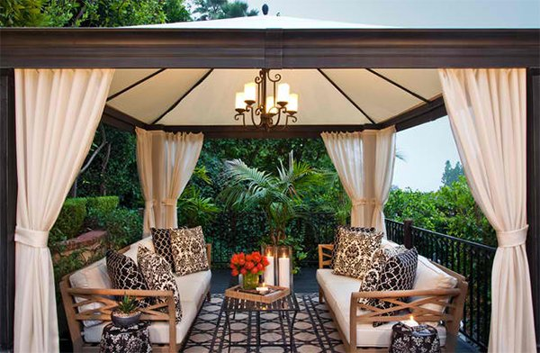 Backyard Cabanas Gazebos : This gazebo reminds me of one of the settings in a movie with a