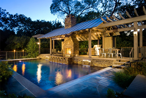 20 ideas to show off a well decorated patio home design lover - Swimming pool patio designs ...