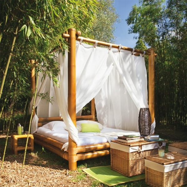 20 fascinating bamboo canopy beds and daybeds home Outdoor daybed with canopy
