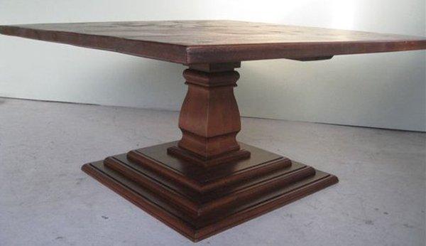 Home Design: 20 Surprising Square Wooden Pedestal Table Bases