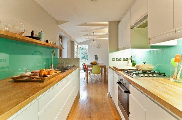 green glass backsplash. green glass tiles for kitchen backsplashes
