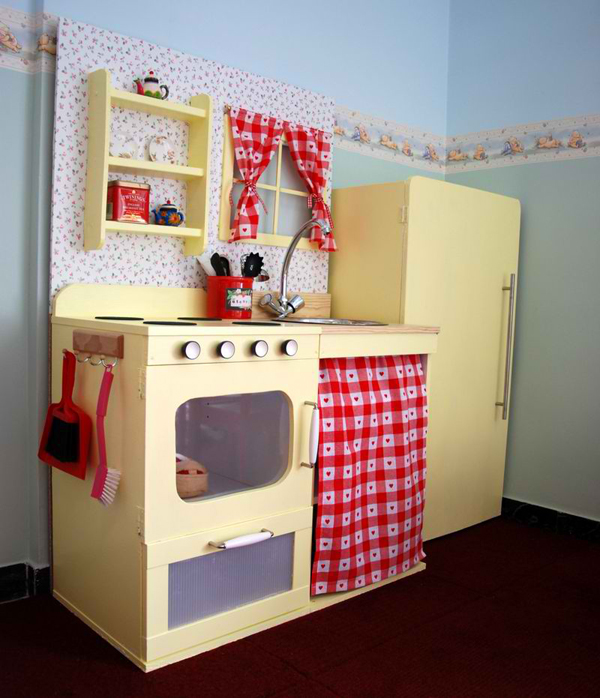 20 play kitchens to make chef pretend play more fun and realistic home design lover. Black Bedroom Furniture Sets. Home Design Ideas