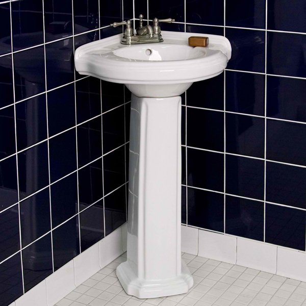 Corner Sink Pedestal : 20 Fascinating Bathroom Pedestal Sinks Home Design Lover