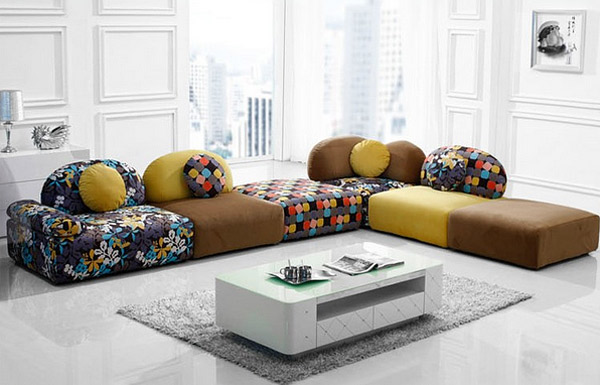 Cuddle into this 20 comfortable floor level sofas - Low cost living room design ideas ...