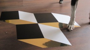 Facet Geometrical Vinyl Tiles for the Walls and Floors