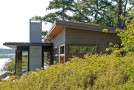 The Stone Walls of the North Bay Residence in Washington, USA