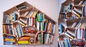 Voronoi Bookshelf Combines Math and Storage Intelligently