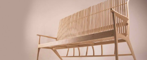 Woodstick Sofa: A Wooden Hybrid of a Sofa and Bench