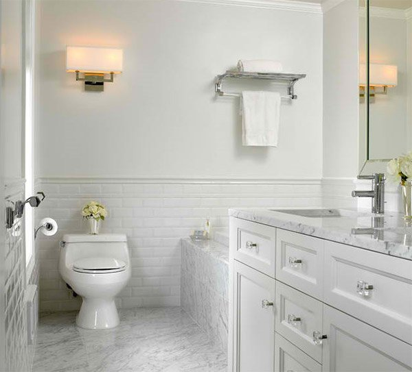 White Subway Bathroom Tile 20 beautiful bathrooms using subway tiles | home design lover