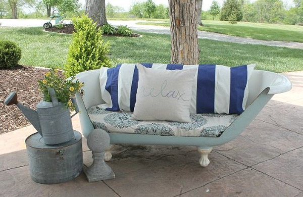outdoor bathtub sofa
