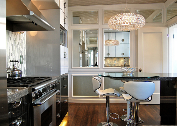 Decorating with 20 mirrored furniture in the kitchen for Capital one kitchen cabinets