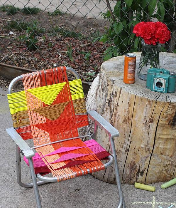 aluminum chair DIY