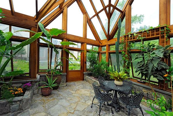 Picture Of Interior Decorated Solarium With Plants