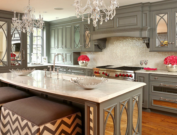 Mirrored furniture kitchenDecorating with 20 Mirrored Furniture in the Kitchen   Home Design  . Mirrored Kitchen Cabinets. Home Design Ideas