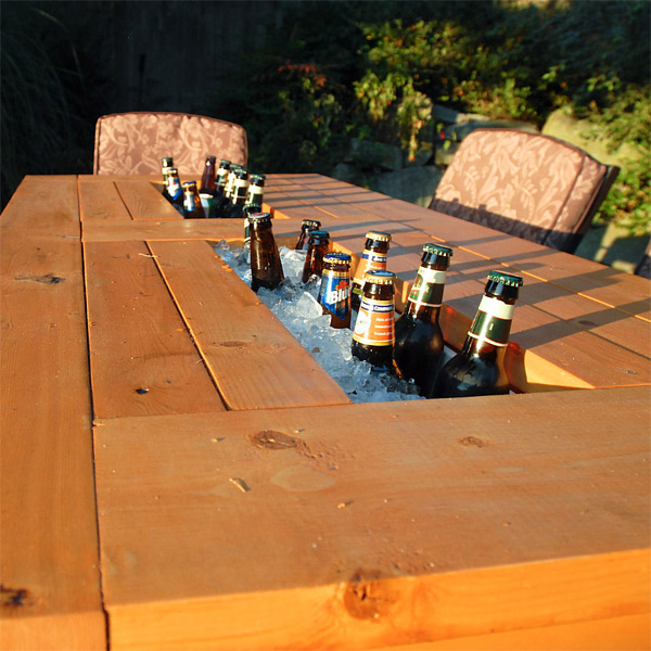 built-in table design