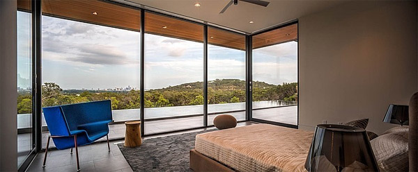 master bedroom glass wall