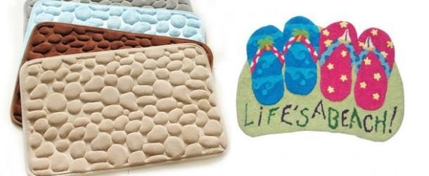 20 Fashionable Designs of Supple Bathroom Rug