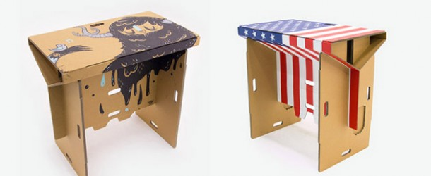A Portable Cardboard Desk You Can Fold and Assemble