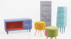 Cute and Colorful Dress Up Furniture with Buttons and Belts