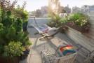 A Manhattan Rooftop Garden Turned from a Barren Area to a Whimsical Garden