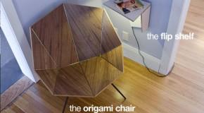 Cut and Fold Modern Furniture Designed Like Origami