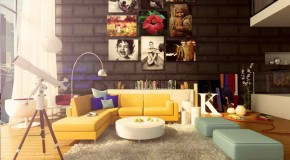 20 Pop Decorating Ideas for the Living Room