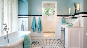 subway tiles bath