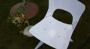 USA-OK Chair: A Modern Geometric Chair for Indoor and Outdoor Use
