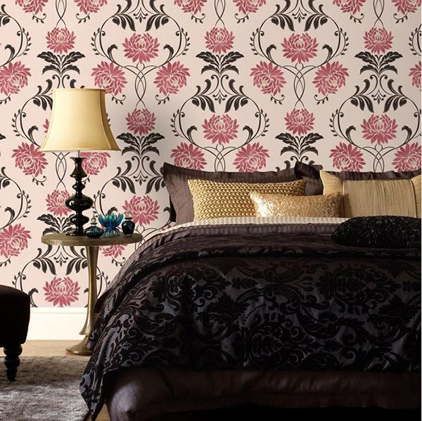 captivating blue bedroom | 20 Captivating Bedrooms With Floral Wallpaper Designs ...