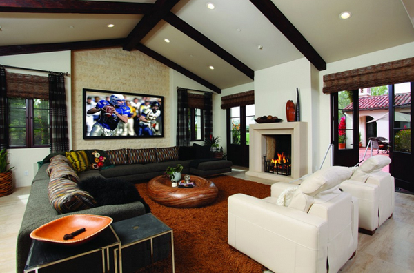 Living Room With Fireplace And Tv On Different Walls 20 beautiful living room layout with two focal points | home