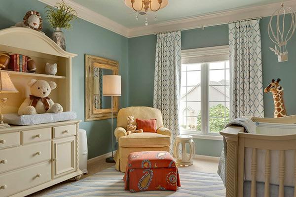 Creams and Gray Little Boy Room