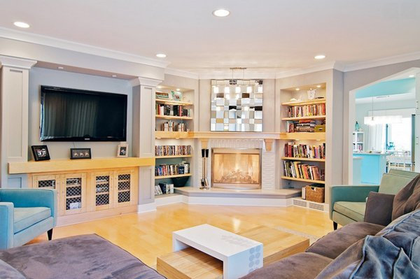 Small Living Room With Corner Fireplace 20 appealing corner fireplace in the living room | home design lover