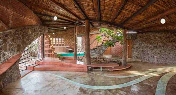 Low Cost And Eco Friendly Technologies In The Brick House In Mumbai India