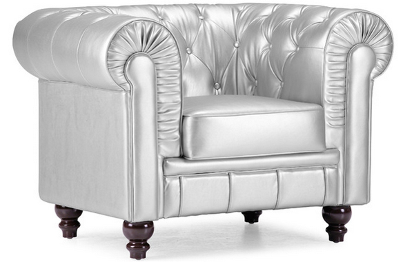 Silver Arm Chair