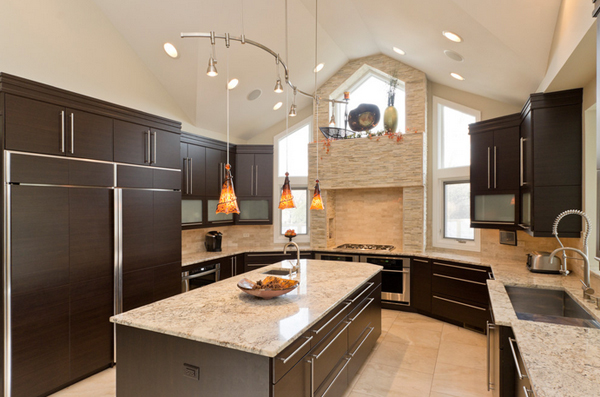 ... Contemporary Kitchen Layouts with Two Focal Points  Home Design Lover
