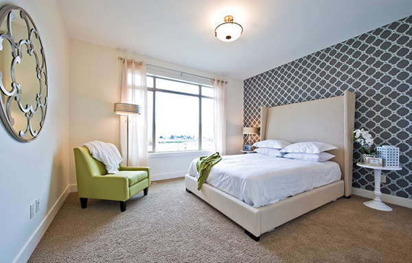 20 Trendy Bedrooms With Geometric Wallpaper Designs Home Design Lover