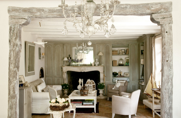 french country living room design - home design