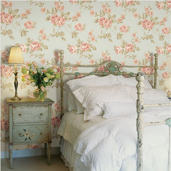 Romantic French Floral Idea for Bedroom