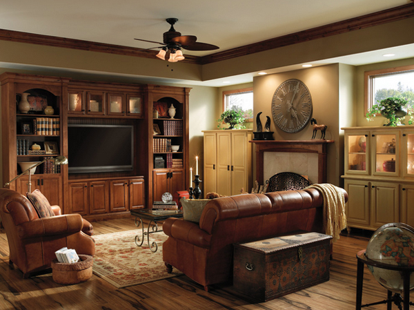 20 beautiful living room layout with two focal points for Family room tv wall ideas