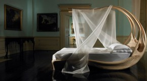 Sensual and Curvaceous Enignum Canopy Bed by Joseph Walsh