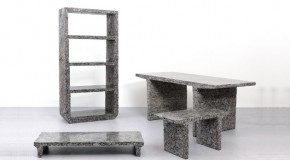 Earth-Friendly Jens Praet Shredded Furniture Made from Magazines